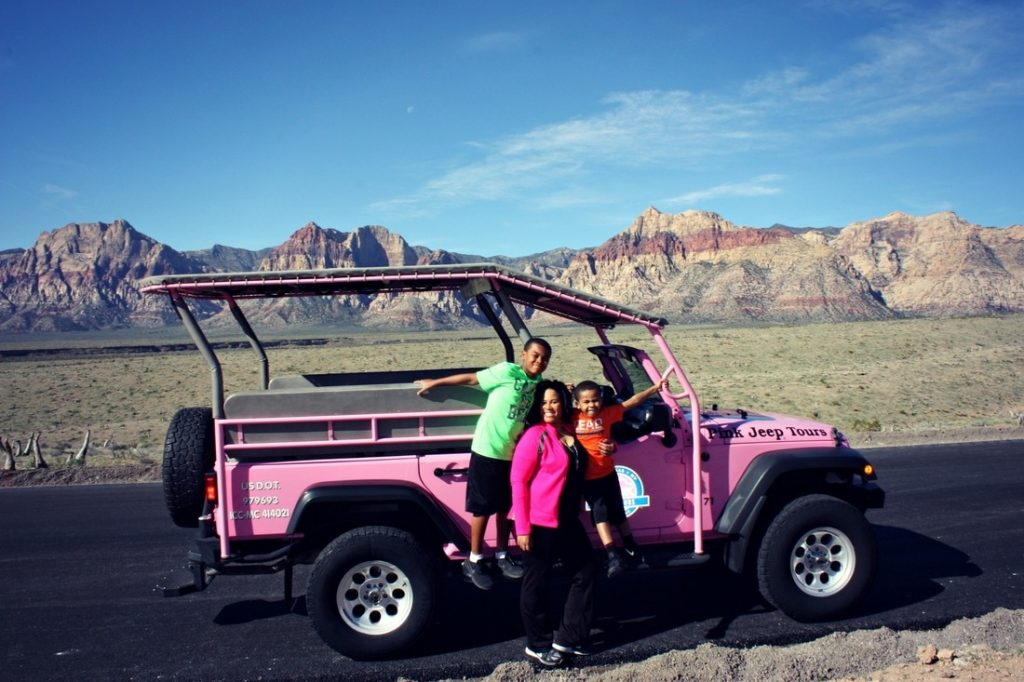 Just Brennon Pink Jeep