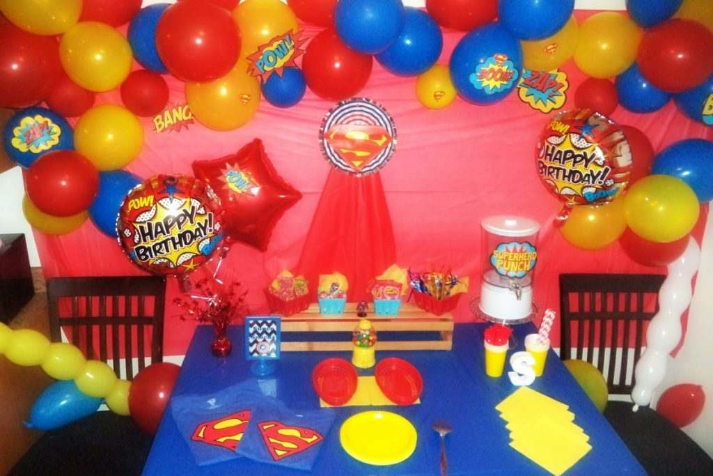 Superman Themed Birthday Party on a Budget Just Brennon