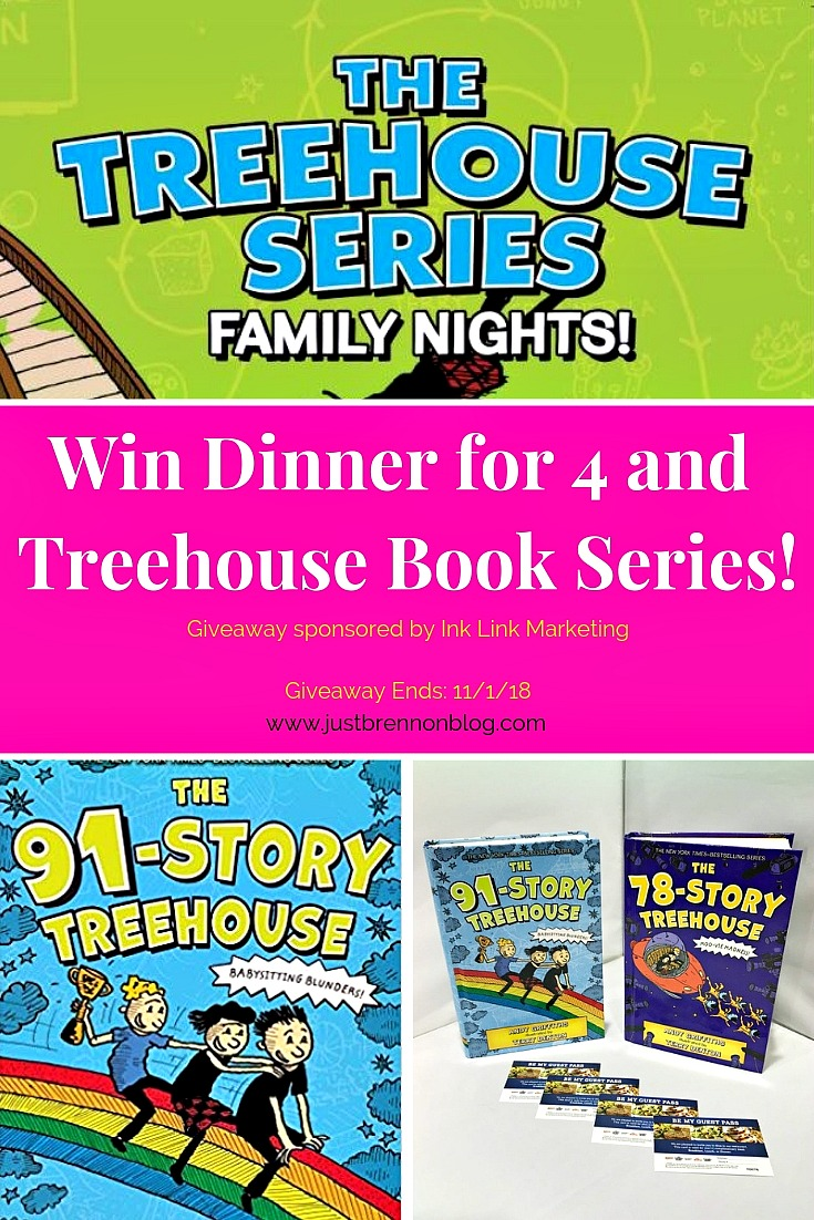 treehouse book series family night giveaway