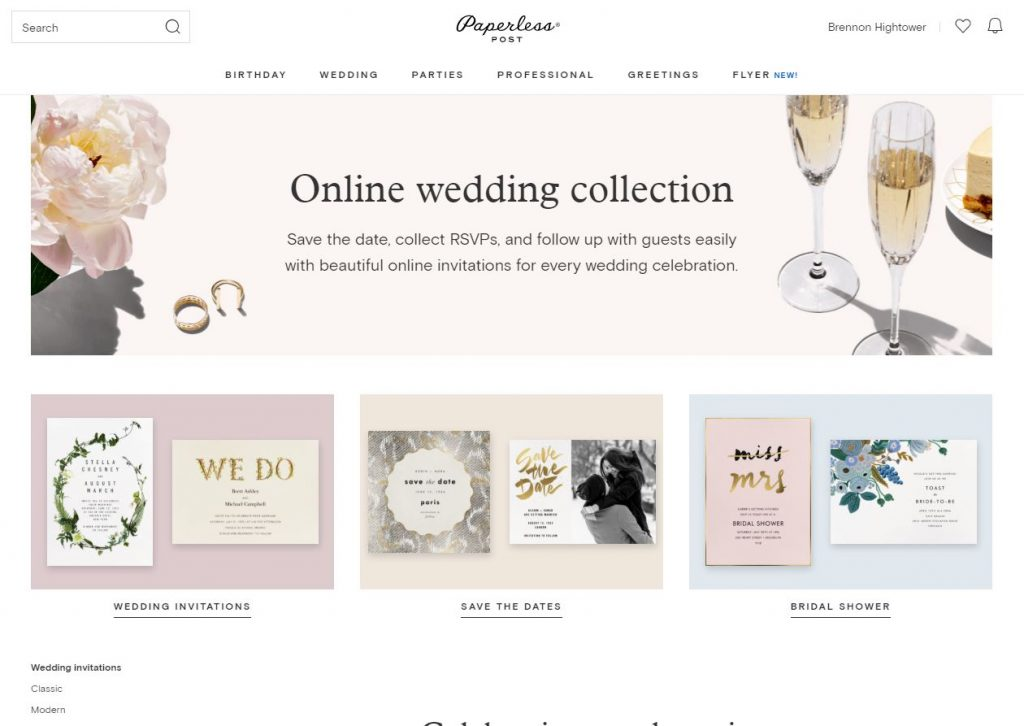 Paperless Invitations Wedding: Paperless Post Wedding Invitations